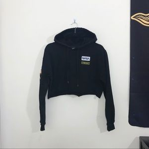 FOREVER 21 NASA Cropped Hoodie